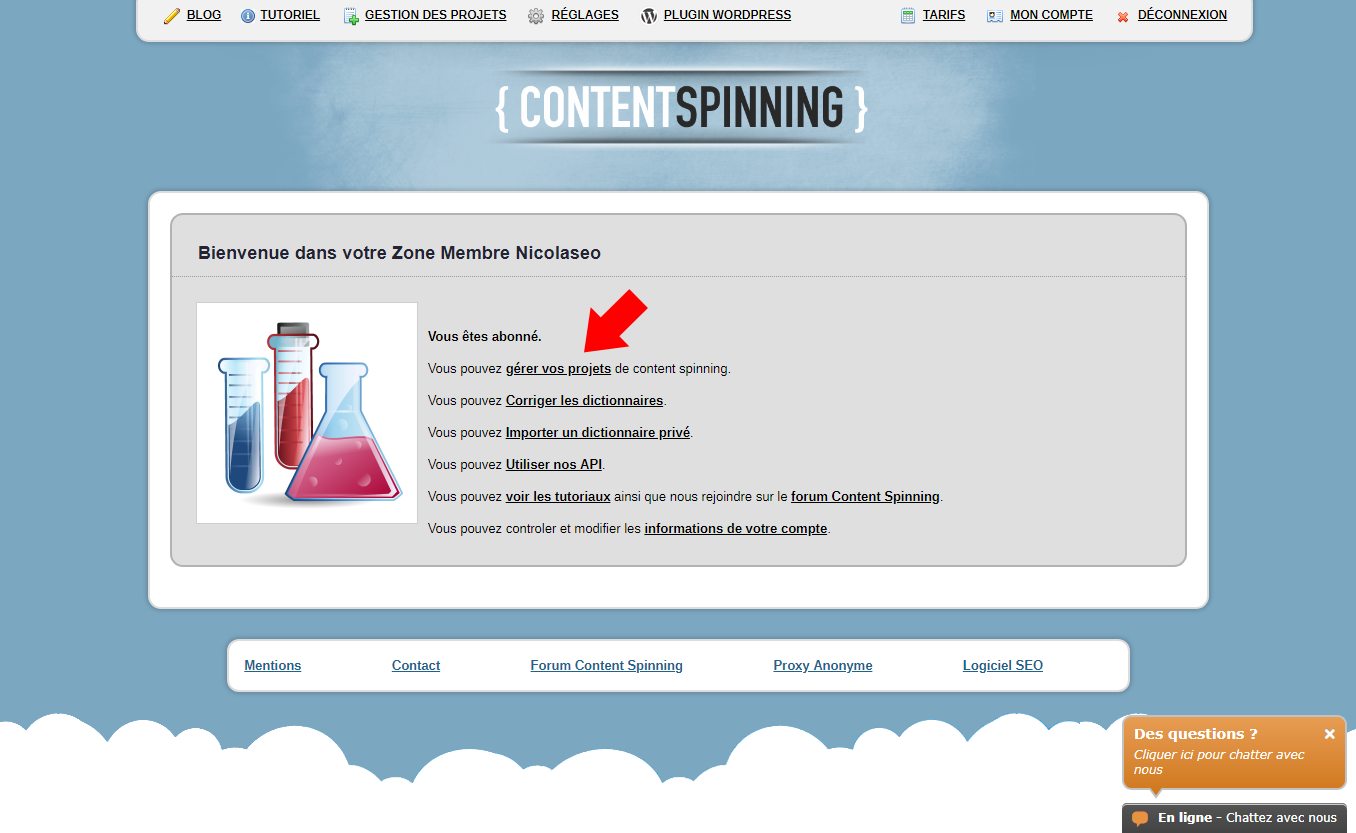 Projet Content Spinning